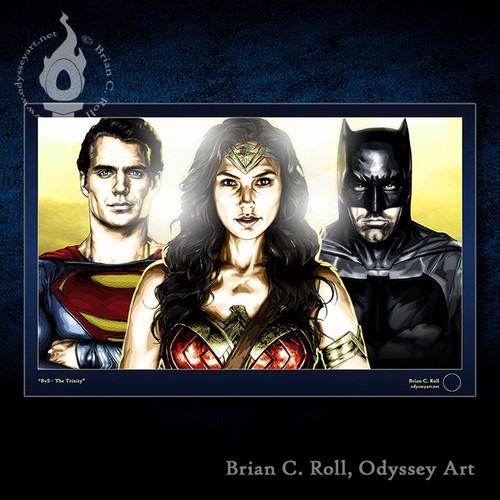 Superman, Batman, Wonder Woman, Brian C. Roll, Odyssey Art