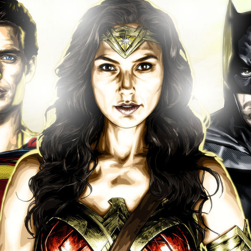 Superman, Batman, Wonder Woman, Brian C. Roll, Odyssey Art, thbnail