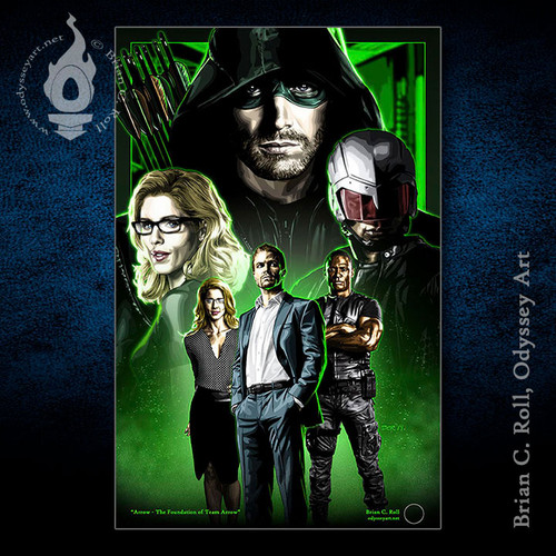 Arrow, Felicity, Diggle, OTA, Foundation, Stephen Amell, Brian C. Roll, Odyssey Art
