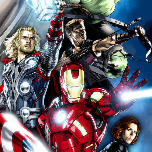 The Avengers, Iron Man, Captain America, Hulk, Thor, Hawkeye, Black Widow, Loki, Brian C. Roll, Odyssey Art, thbnail