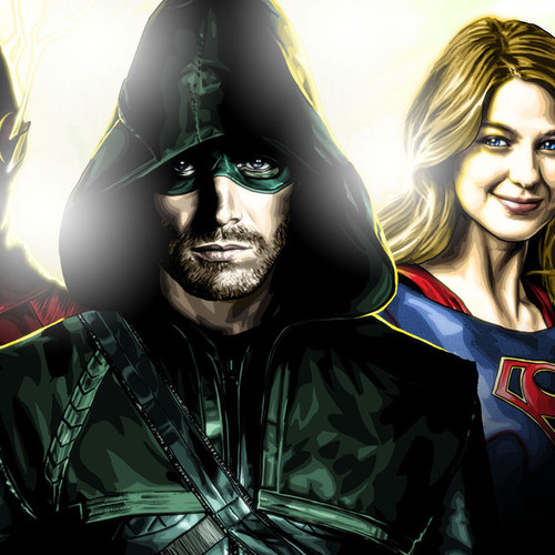 Arrow, Supergirl, Flash, Stephen Amell, Melissa Benoist, Grant Gustin, Brian C. Roll, Odyssey Art, thbnail