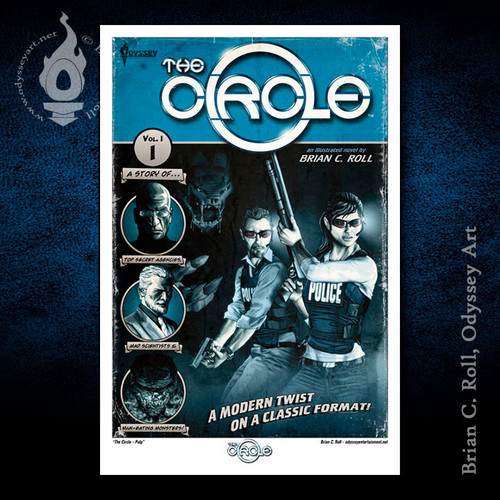 The Circle, Pulp, Brian C. Roll, Odyssey Art