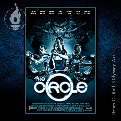 The Circle, poster, cover, monster, Brian C. Roll, Odyssey Art