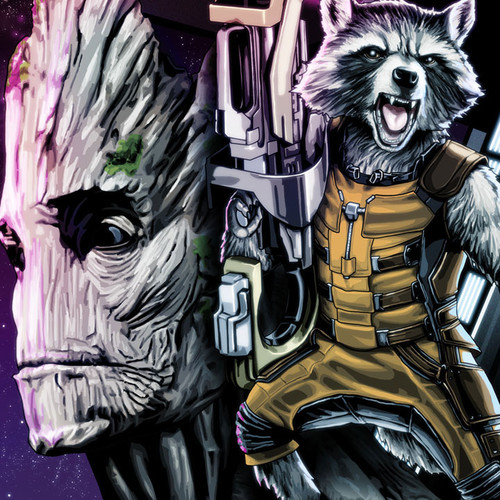 Guardians of the Galaxy, Rocket and Groot, Brian C. Roll, Odyssey Art, thbnail