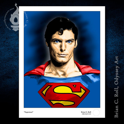 Superman, Christopher Reeve, Brian C. Roll, Odyssey Art