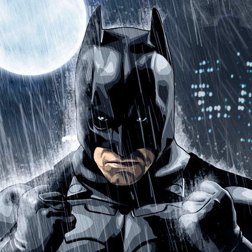 Rainy Knight, Batman, Christian Bale, Brian C. Roll, Odyssey Art, thbnail