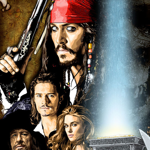 Pirates of the Carribbean, Johnny Depp, Jack Sparrow, Brian C. Roll, Odyssey Art, thbnail