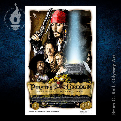 Pirates of the Carribbean, Johnny Depp, Jack Sparrow, Brian C. Roll, Odyssey Art