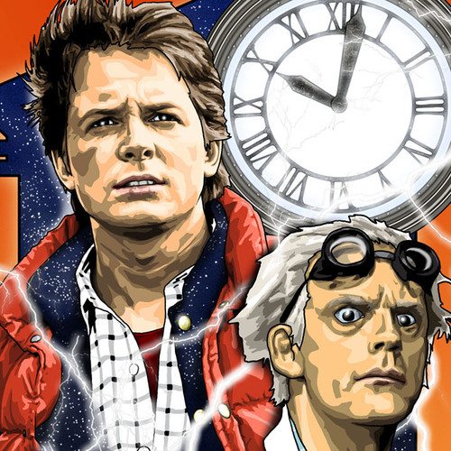 Back to the Future, Michael J Fox, Christopher Lloyd, Brian C. Roll, Odyssey Art, thbnail