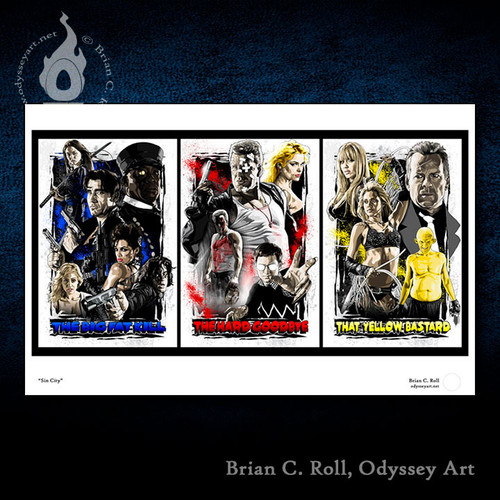 Sin City, Marv, Hard Goodbye, Big Fat Kill, That Yellow Bastard, Brian C. Roll, Odyssey Art