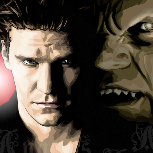 Angelus, Angel, Buffy the Vampire Slayer, David Boreanaz, Brian C. Roll, Odyssey Art, thbnail