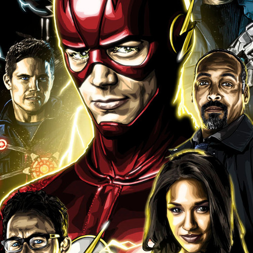 The Flash, Barry Allen, Grant Gustin, Brian C. Roll, Odyssey Art, thbnail