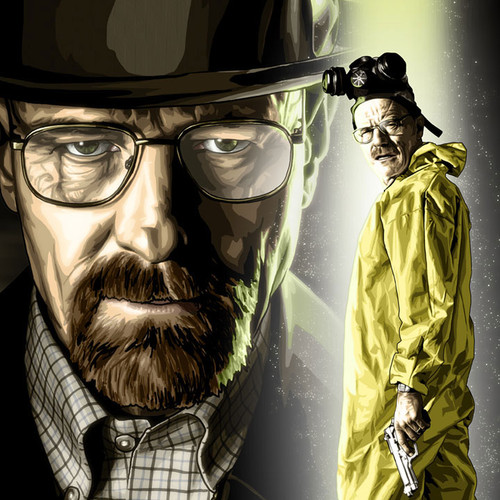 "Breaking Bad, 8.5""x11"" Heisenberg art print, Brian C. Roll, Odyssey Art, thbnail"