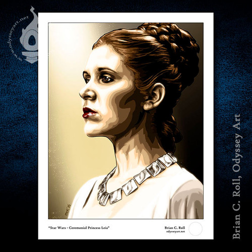 Ceremonial Leia, Princess Leia, Carrie Fisher, Star Wars, Brian C. Roll, Odyssey Art