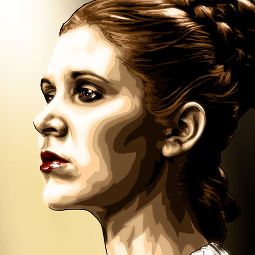Ceremonial Leia, Princess Leia, Carrie Fisher, Star Wars, Brian C. Roll, Odyssey Art, thbnail