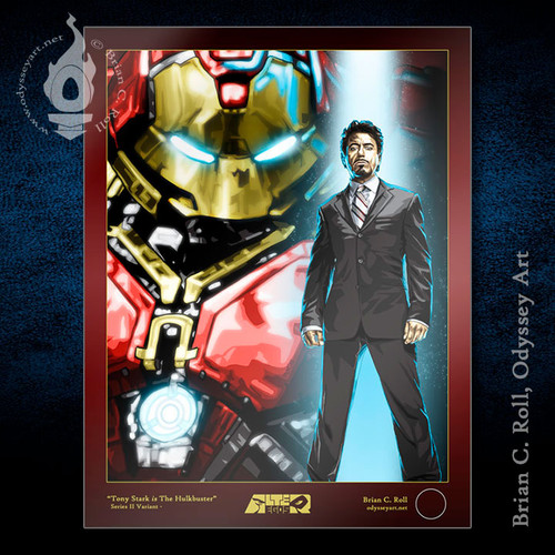 Hulkbuster, Iron Man, Tony Stark, Robert Downey Jr, Brian C. Roll, Odyssey Art