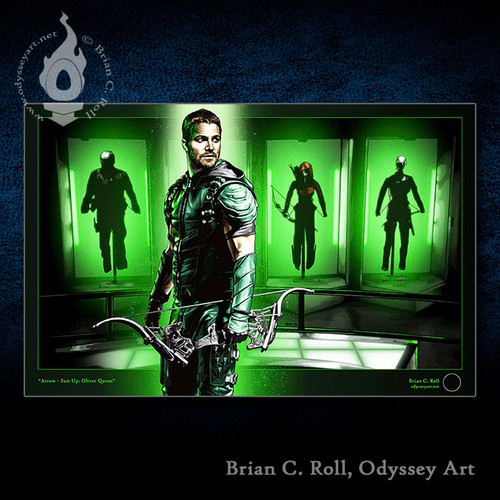 Green Arrow, Stephen Amell, Suit Up, Brian C. Roll, Odyssey Art