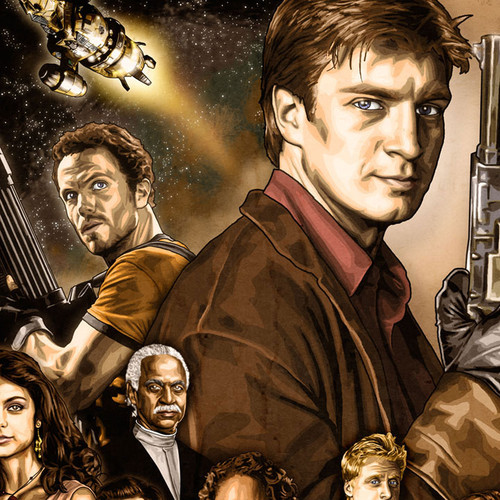 Firefly, Nathan Fillion, Serenity, XL Poster, Brian C. Roll, Odyssey Art, thbnail