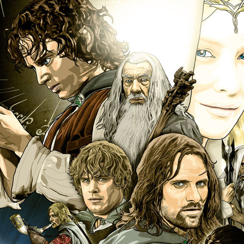 Lord of the Rings, Fellowship of the Ring, XL Poster, Brian C. Roll, Odyssey art, thbnail