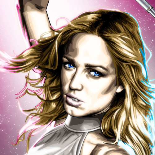 White Canary, Sarah Lance, Caity Lotz, Brian C. Roll, Odyssey Art, thbnail