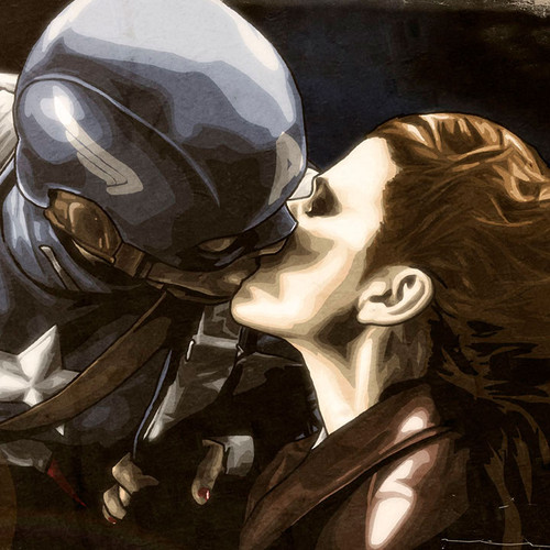 Agent Carter, Peggy, Haley Atwell, Captain America, Kiss, Brian C. Roll, Odyssey Art, thbnail