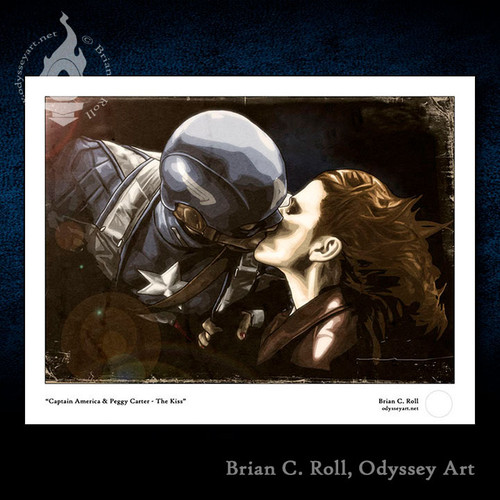 Agent Carter, Peggy, Haley Atwell, Captain America, Kiss, Brian C. Roll, Odyssey Art