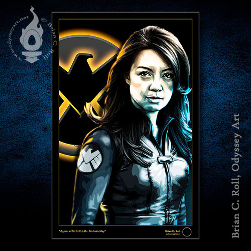 Melinda May, Ming-Na Wen, Agents of SHIELD, Brian C. Roll, Odyssey Art