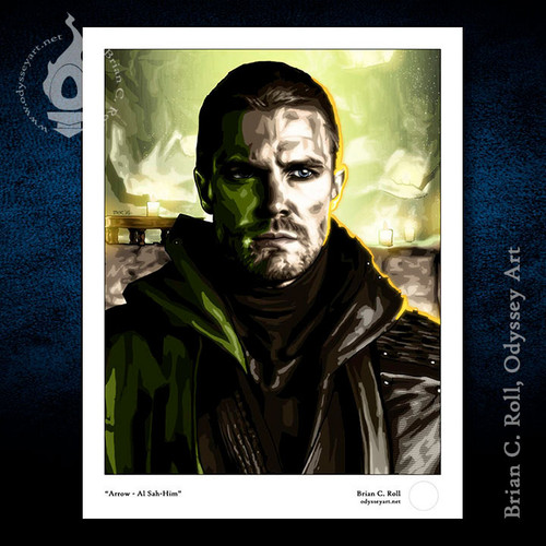 Green Arrow, Al Sah-Him, Stephen Amell, Brian C. Roll, Odyssey Art
