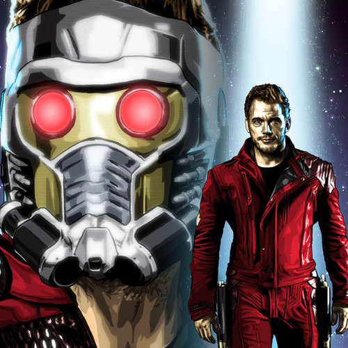 Chris Pratt, Star-Lord, Peter Quill, Guardians of the Galaxy, Brian C. Roll, Odyssey Art, thbnail