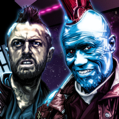 Guardians of the Galaxy, Yondu, Kraglin, Michael Rooker, Brian C. Roll, Odyssey Art, thbnail