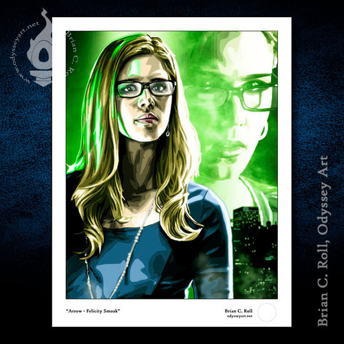 Felicity Smoak, Arrow, Emily Bett Rickards, Brian C. Roll, Odyssey Art