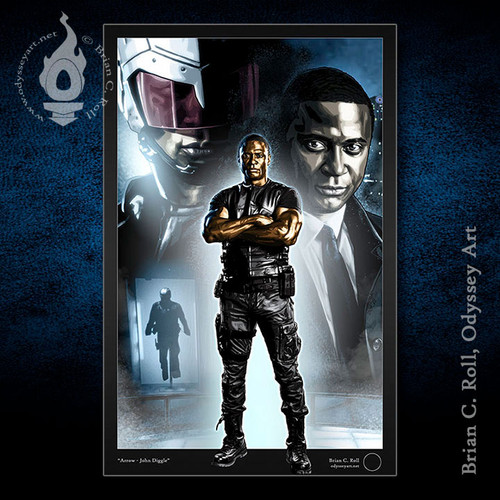 Arrow, John Diggle, Spartan, David Ramsey, Brian C. Roll, Odyssey Art