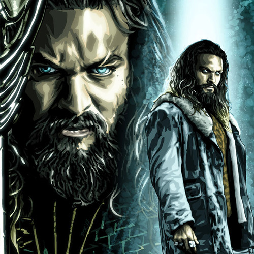 Jason Momoa, Aquaman, Arthur Curry, Brian C. Roll, Odyssey Art, thbnail
