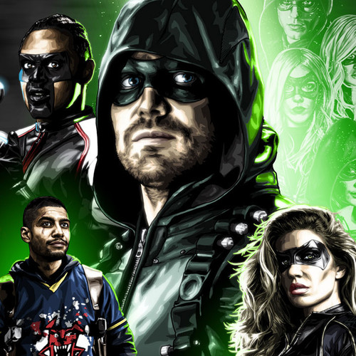 Arrow, Green Arrow, Stephen Amell, The New Crew, Brian C. Roll, Odyssey Art, thumbnail