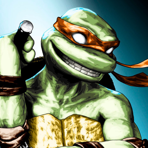 TMNT, Teenage Mutant Ninja Turtles, Michelangelo, Mikey, Brian C. Roll, Odyssey Art, thbnail