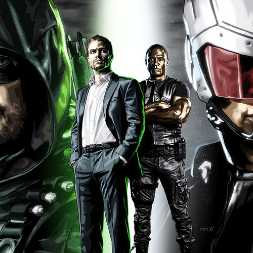 Arrow, Spartan, Oliver Queen, John Diggle, Stephen Amell, David Ramsey, Brian C. Roll, Odyssey Art, thbnail