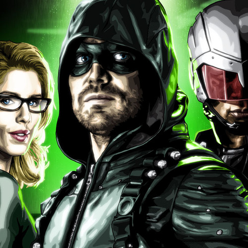 Team Arrow, Green Arrow, Felicity Smoak, Spartan, Brian C. Roll, Odyssey Art, thumbnail