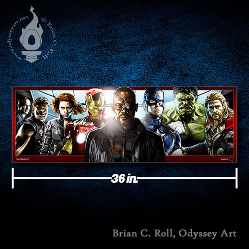 Avengers Initiative, Nick Fury, Brian C. Roll, Odyssey Art