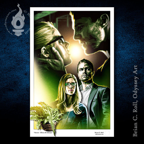 Oliver Queen, Stephen Amell, Felicity Smoak, Brian C. Roll, Odyssey Art