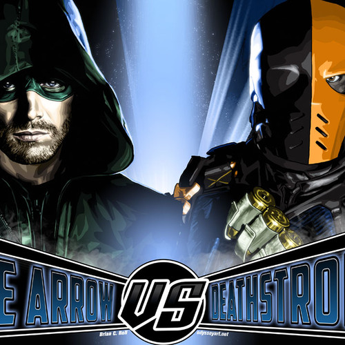 Arrow, Stephen Amell, Deathstroke, Brian C. Roll, Odyssey Art, thumbnail