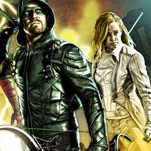 DCTV Core 4, Arrow, Flash, Supergirl, White Canary, Stephen Amell, Brian C. Roll, Odyssey Art, thbnail