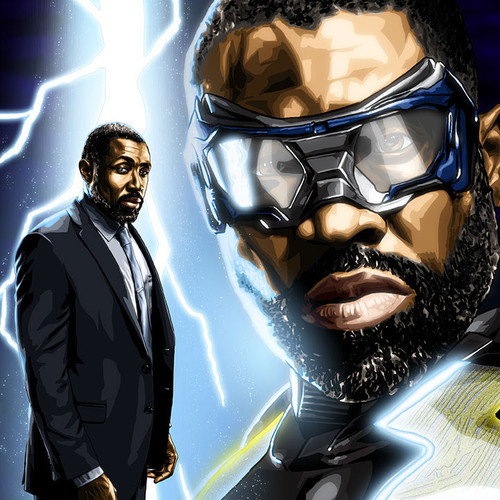 Black Lightning, Jefferson Pierce, Cress Williams, Brian C. Roll, Odyssey Art, thbnail