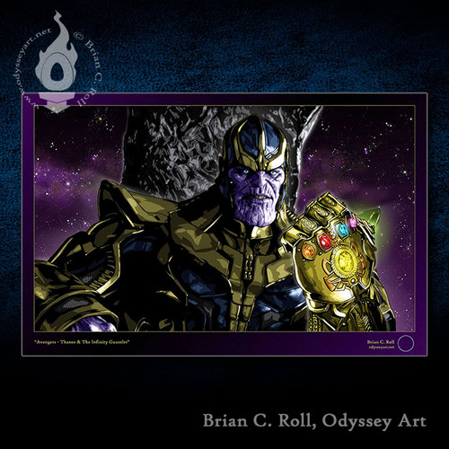 The Avengers, Thanos and The Infinity Gauntlet, Brian C. Roll, Odyssey Art
