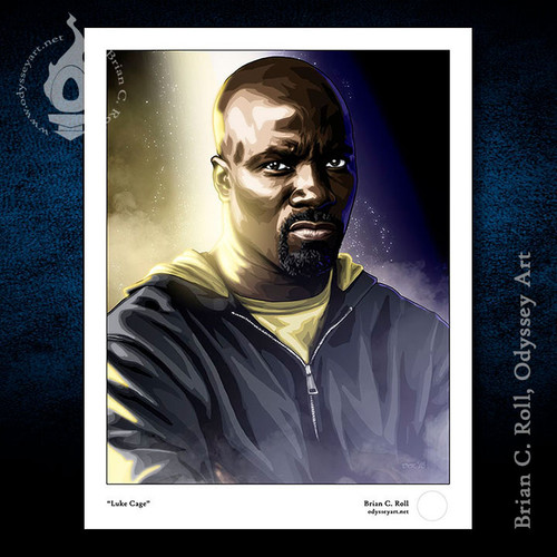 Luke Cage, Mike Colter, The Defenders, Brian C. Roll, Odyssey Art