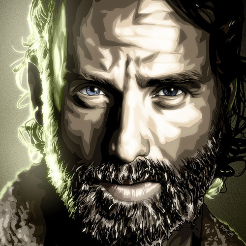 Walking Dead, TWD, Rick Grimes, Andrew Lincoln, Brian C. Roll, Odyssey Art, Large, thbnail