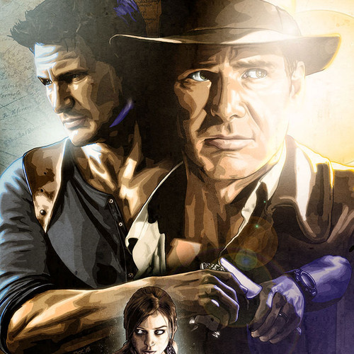 Raiders of the Uncharted, Indiana Jones, Nathan Drake, Lara Croft, Brian C. Roll, Odyssey Art, thbnail