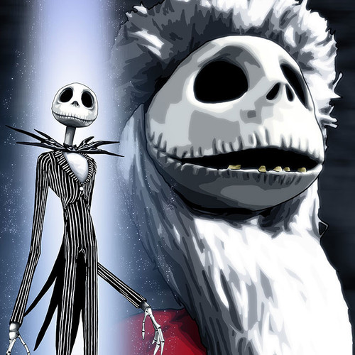 Jack Skellington, Sandy Klaus, Nightmare Before Christmas, Brian C. Roll, Odyssey Art, thbnail