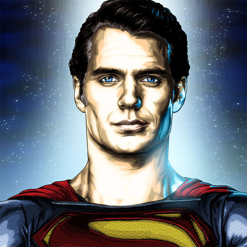 Superman, Man of Steel, Henry Cavill, Brian C. Roll, Odyssey Art, thbnail