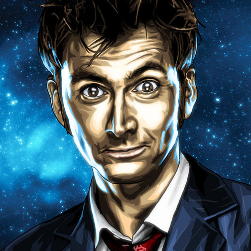Doctor Who, Tenth Doctor, David Tennant, Brian C. Roll, Odyssey Art, thbnail