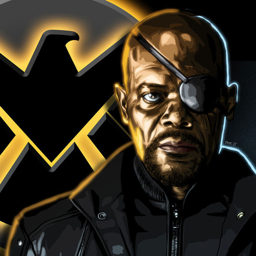 Nick Fury, Agents of Shield, Samuel L. Jackson, Brian C. Roll, Odyssey Art, thbnail